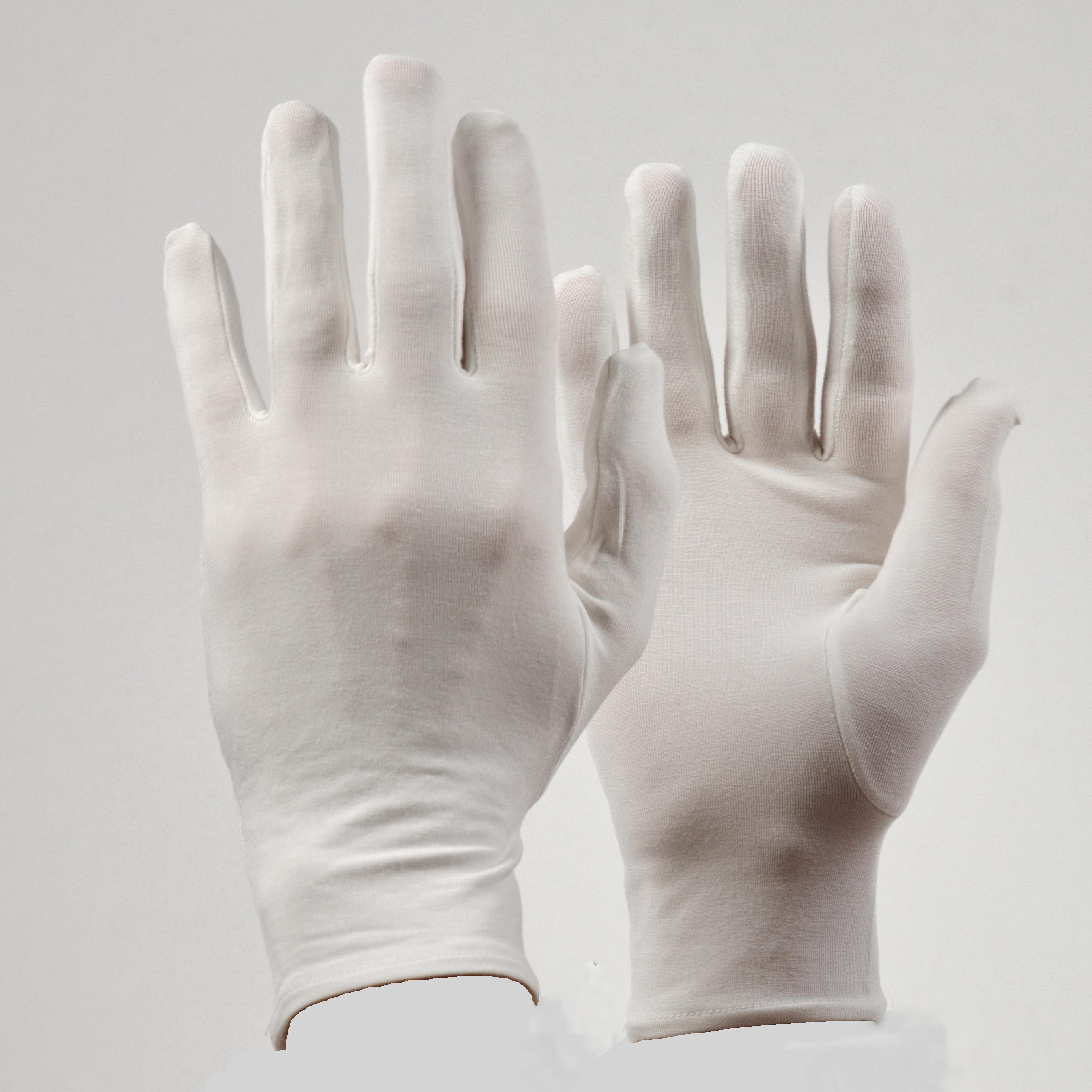 Bamboe Premium handschoenen kleur ecru