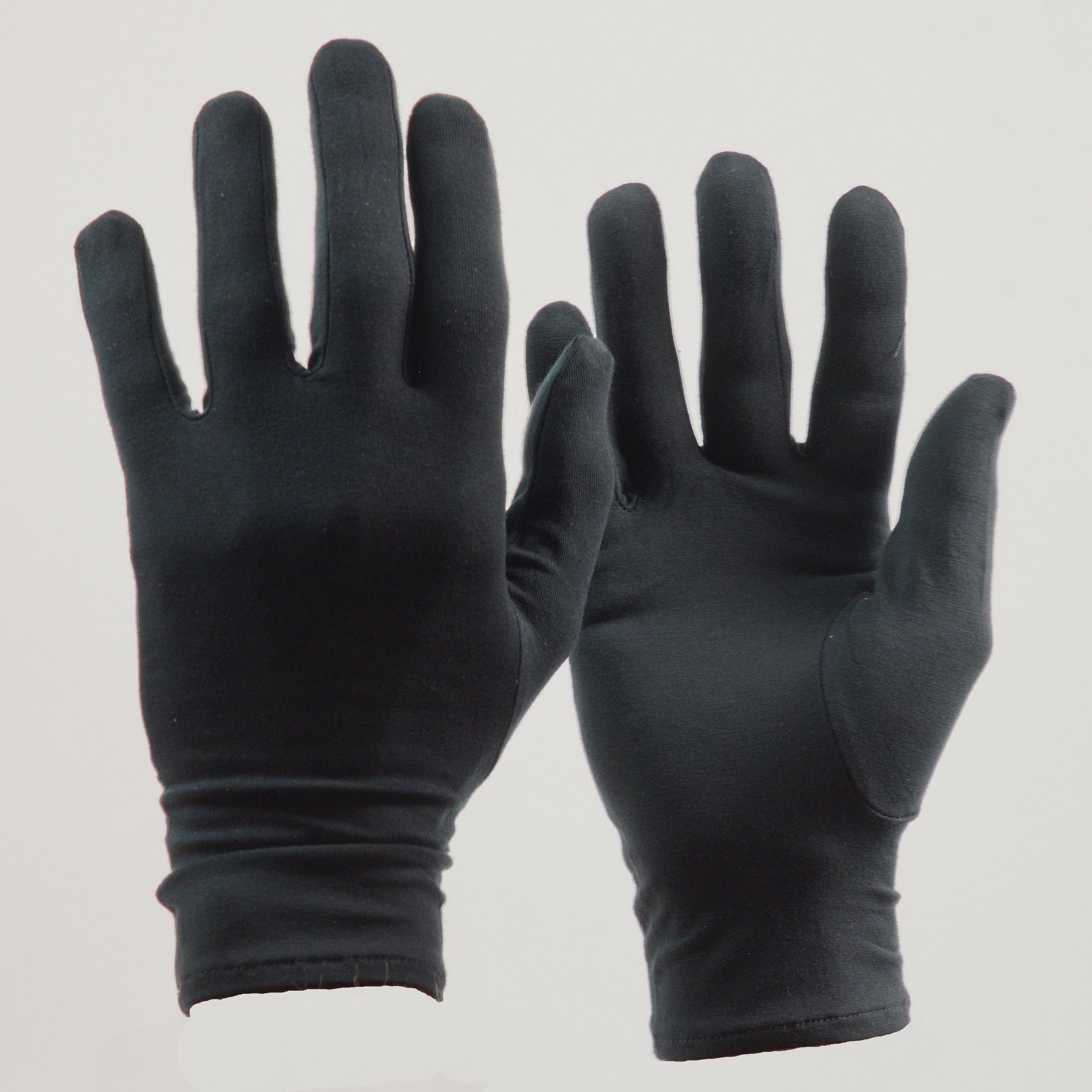 Bamboe Premium handschoenen kleur zwart