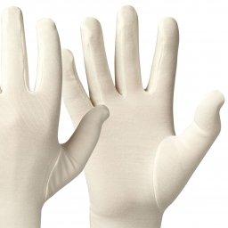 Bamboe Basic handschoenen kleur ecru