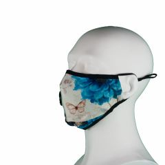 Fijnstof / hooikoorts mondkapjes > Fijnstof mondkapje Blue Rose incl. 2x active carbon filter