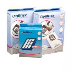 Nilfisk ELITE voordeel set 8x stofzak + 2x voorfilter + 1x HEPA14 filter