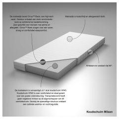 Schuim matrassen > Kindermatras koudschuim Milaan 70x160 cm