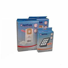 Nilfisk Select serie > Nilfisk SELECT voordeel set 8x stofzak +2x voorfilter + HEPA14 filter