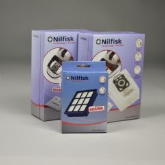 Nilfisk ELITE voordeel set 8x stofzak HD +2x voorfilter + HEPA14 filter